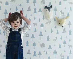 into the wild: woodland themed wallpaper from hibou home ...