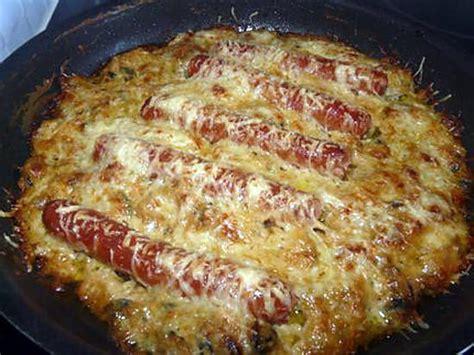 recette cuisine facile rapide recette de gratin de courgettes aux knackis facile et rapide