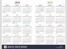 12 months Calendar Design 20182019 printable and editable