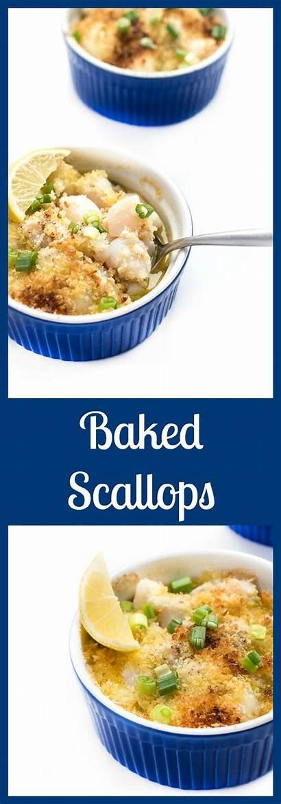 Scallops Bay Baked Recipes Seafood Panko Lemon
