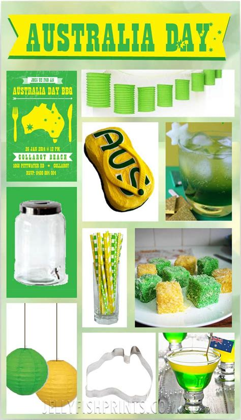 australia day inspiration green  gold australia day
