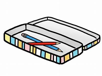 Pencil Case Clipart Cases Clip Box Eraser