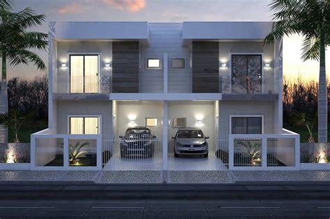 planta de sobrado geminado moderno houses duplex house