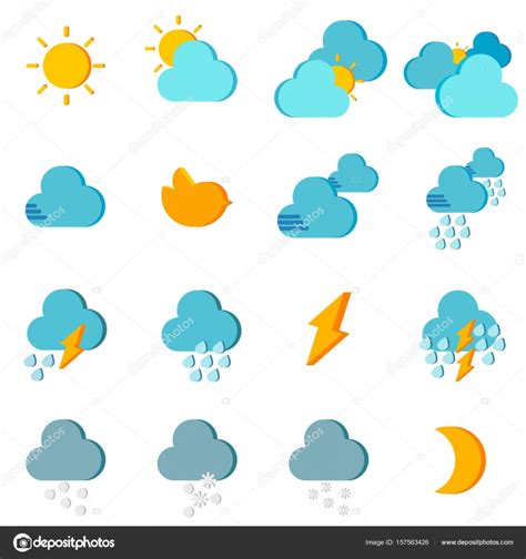weather color weather icon color stock vector 169 commonthings 157563426