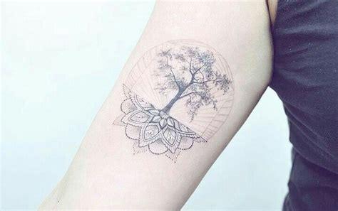 mandala tree tattoo  placement
