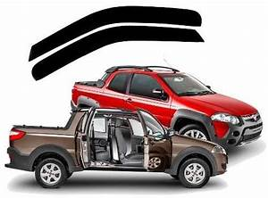Calha Chuva Fiat Strada 3 Portas 2013 A 2018 Ft3596