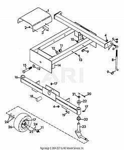 Gravely 45742 50 U0026quot  Deck 2 Wheel Tractor Parts Diagram For
