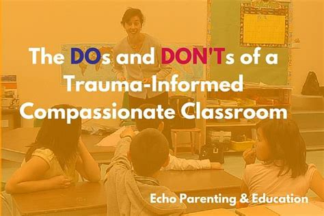 dos  donts   trauma informed compassionate
