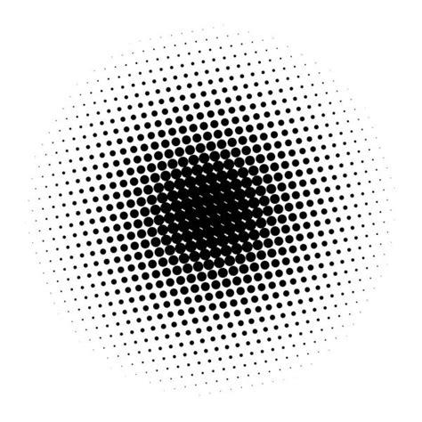 Pop art round elements Halftone black dots on white