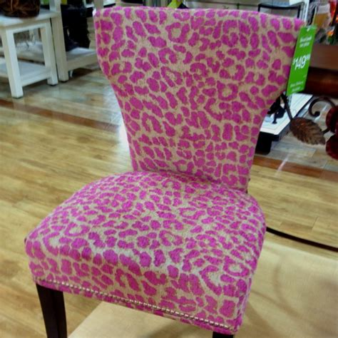 pink leopard chair from homegoods makeup rooms and ideas