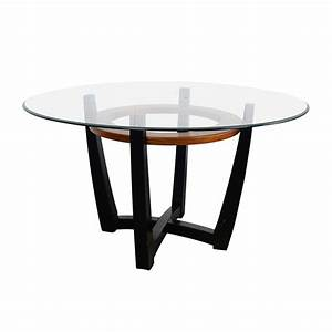 88% OFF - Macy's Macy's Elation Round Glass Dining Table
