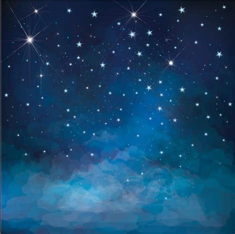 xft dark blue starry sky sparkles stars clouds custom
