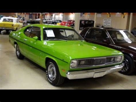 plymouth duster  lime green muscle car youtube