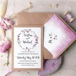 23 pretty watercolor wedding invitations to get inspired With lilac beach wedding invitations