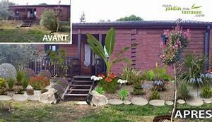 terrain en pente monjardin materrassecom With marvelous amenager jardin en pente 13 creer un bassin de jardin