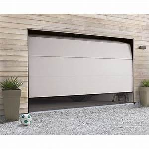 Porte de garage sectionnelle motorisee hormann h200 x l for Porte de garage enroulable et porte en bois blanc