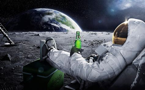 Hd Outer Space Pictures Astronaut On The Moon Wallpaper Wallpapersafari