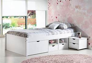 Betten 90 X 200 : massivholzbett jugendbett till 90 x 200 kiefer wei lackiert ~ Bigdaddyawards.com Haus und Dekorationen