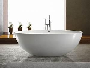 Freistehende Badewanne Piemont Aus Mineralguss Wei Matt