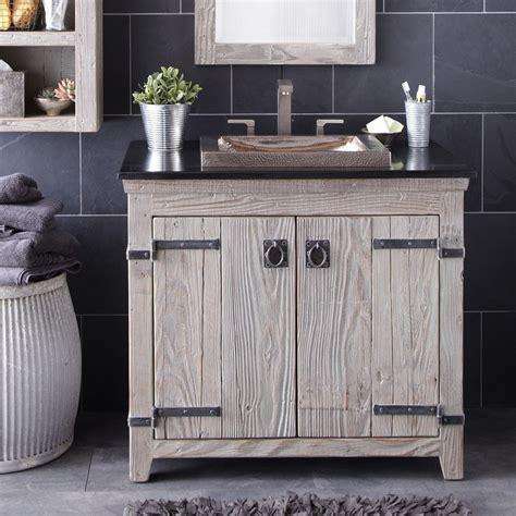 bathroom reclaimed wood bathroom vanity  access