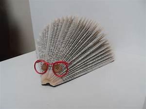 porc epic a lunettes porte courrier en livre plie pliage With bricolage a la maison 5 livre de poche pliage des pages photo de d loisirs