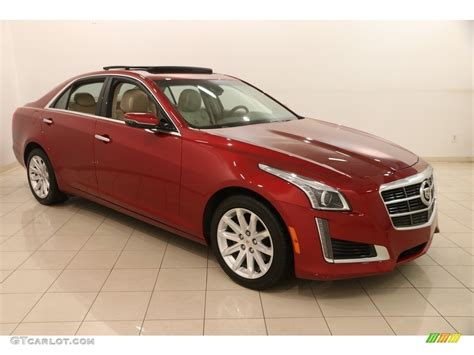 2014 Red Obsession Tintcoat Cadillac Cts Luxury Sedan Awd