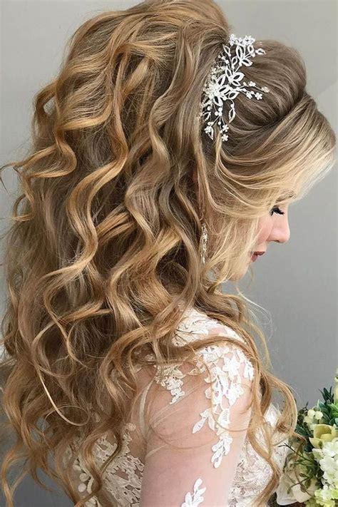 42 half up half down wedding hairstyles ideas bridal up