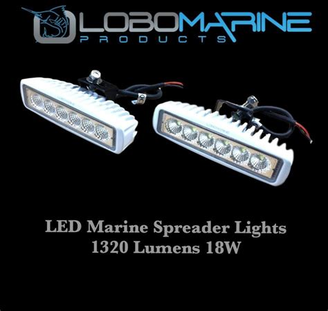 lobo marine led spreader flood light set 18w 12v 1320