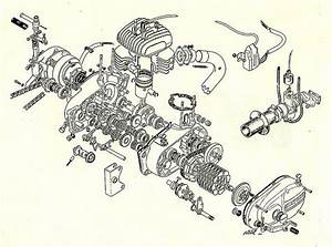 Bultaco Engine Exploded View