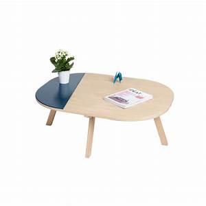 Table Bois Massif Contemporaine : table basse aronde ~ Teatrodelosmanantiales.com Idées de Décoration