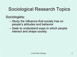 good sociology research topics