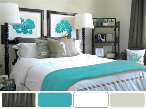 bedroom bedding  decor coral  turquoise bedroom