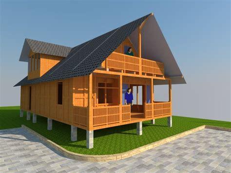 gambar  desain rumah panggung kayu wajib ketahui