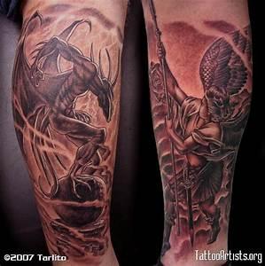demon versus angel - Tattoo Artists.org