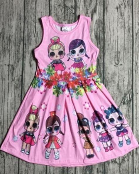 pink lol sleeveless dress gabskia