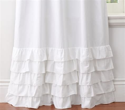 white ruffle room darkening curtains curtain