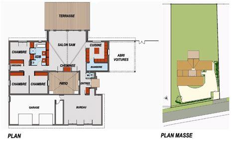 plan de maison avec patio interieur gratuit
