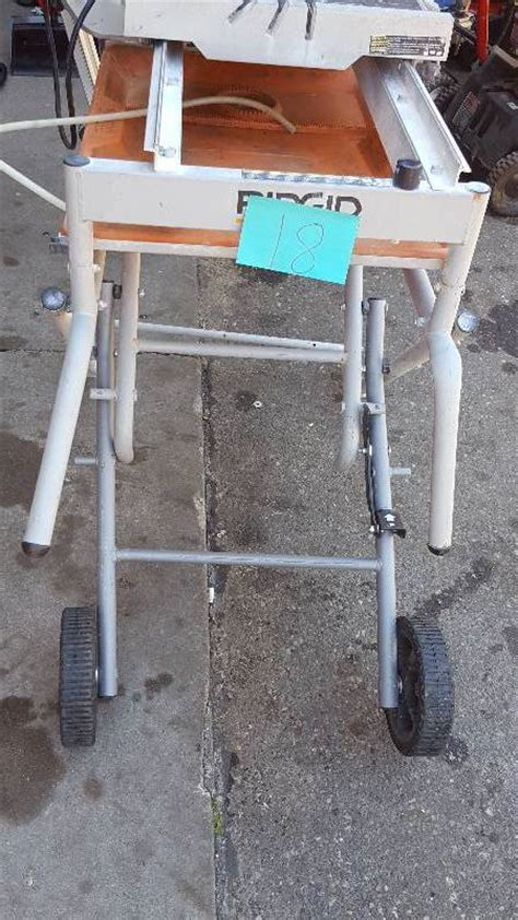 ridgid tile saw stand ridgid 10 in tile saw with stand used in working