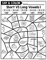 Vowels Words Cvc Cvce Say Teacher sketch template