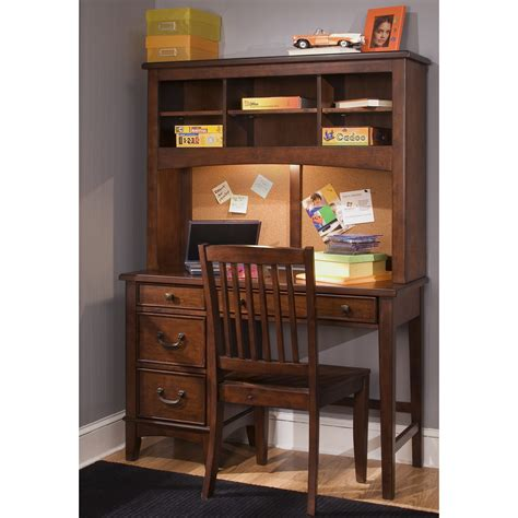 small student desk with hutch liberty furniture chelsea square bedroom student desk