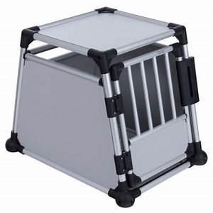 Cage Transport Chien Voiture : trixie cage de transport en aluminium pour chien gris clair zooplus ~ Medecine-chirurgie-esthetiques.com Avis de Voitures