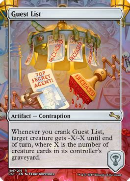 Guest List from Unstable Spoiler