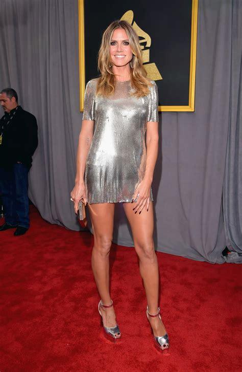 Heidi Klum Forgot Her Pants Grammy Awards Yahoo