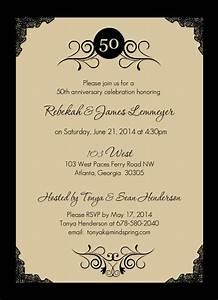 50th anniversary invite lito lita39s 60th pinterest for Party city 50th wedding anniversary invitations