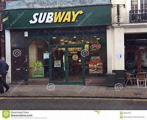 Subway restaurant. editorial stock image. Image of ...