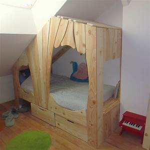 Lit Cabane En Bois Sur Mesure Pour Enfant Abra Ma Cabane