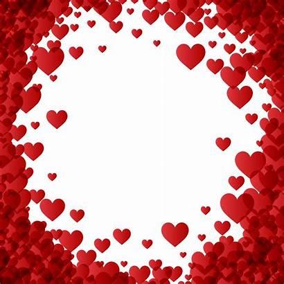 Border Heart Valentine Borders Frame Transparent Valentines