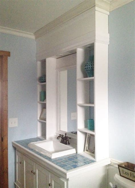 ana white vanity hutch  recessed lights diy projects
