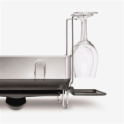 acrylic kitchen sinks simplehuman kt1154 kitchen dish rack with swivel spout 1154