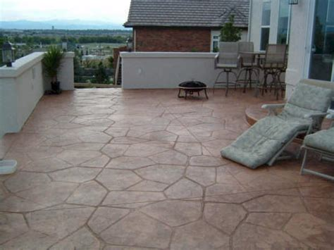 deck and sted concrete patio interior design ideas